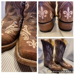 Corral boots, worn once! 6.5, but fit like 7.5.